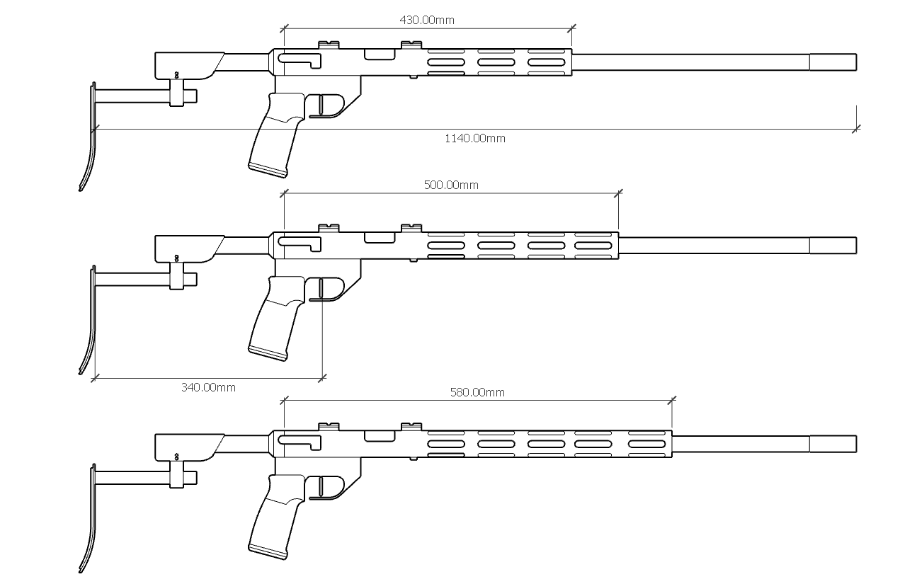 Chassis rifles